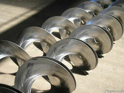 Augers, spirals, passenger conveyors, turns to any country o
